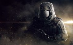 One of the latest promotionnal art of one of the characters I did. The screenshot/marketing polish were made by Eve Berthelette at the Helix Studio. Rainbow Six Siege - White Mask Heavy Bomber Cool Desktop Wallpapers, Cool Wallpaper, Zombie Army, Tom Clancy's Rainbow Six, Widowmaker, Anime Furry, Background Pictures, Military Art, Character Design