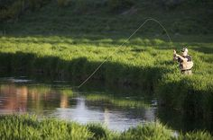 A moment of peace for my hubby. He does love his Fly Fishing!