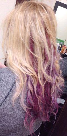 Violet/Lavender Balayage www.styleseat.com/kirihairartist utah hair