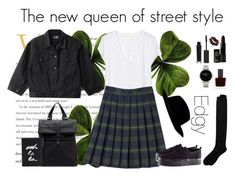 """""""The new queen of street style"""" by mermaidstylist ❤ liked on Polyvore featuring HotSquash, River Island, Zara, French Toast, Nixon, NYX, RGB, Topshop, H&M and Kate Spade"""