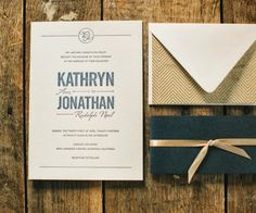 { Ask Cynthia }: Wedding Inspirations | Navy and Gold | Invitation Suite