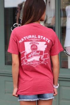 Natural State of Mind Tee {Crimson}
