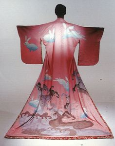 Chushingura (1997) Directed by Werner Herzog, Sets and Costume design by Eiko Ishioka, Japan. Bunny kimono!