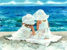 """Beach Buddies"" - Judith Stein - Watercolor"