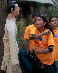 A blind girl hits a mannequin during a basic self defence workshop organised for blind girls in Mumbai. Blind Girl, Today In Pictures, Workshop Organization, In Mumbai, Now And Forever, Helping Others, Infographic, Foundation, Future