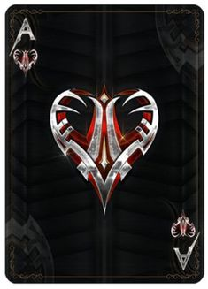 Kickstarter Bicycle Steel Playing Cards - Steel Ace of Hearts - Fantasy Tränke - Fale Ace Card, Playing Cards Art, Ace Of Hearts, Ace Of Spades, Art Design, Deck Of Cards, Card Games, Fantasy Art, Decks