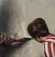 """""""Thunder"""" - Michael Borremans - 2006 Oil on canvas 36 x 5 cm Michael Borremans, Diego Velazquez, Manet, Paintings I Love, Museum Of Modern Art, Portraits, Art Plastique, Figure Painting, Figurative Art"""