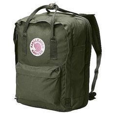 """Fjallraven Kanken 13 Backpack Forest Green One Size by Fjallraven. $99.94. DECENT FEATURES of the Fjallraven Kanken 13 Backpack Laptop version of our best-selling Kanken daypack A padded compartment protects your 13""""-15""""-17"""" laptop These packs also included a removable seat pad, padded shoulder straps, reflector in logo patch and front/side pockets The SPECS Webbing: Polypropylene Dimension: (H x W x D): 30 x 23 x 16 cm Volume: 13, 20 liter Laptop: Sleeve Up To: 13"""" Zipper: YK..."""