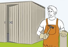 Build your own shed - OBI shows how it works - Do-it-yourselfers are in a good mood in front of finished tool sheds. Sun Sails, Cute Garden Ideas, Le Hangar, Build Your Own Shed, Obi, Shed Homes, Tool Sheds, Diy Shed, Home Technology