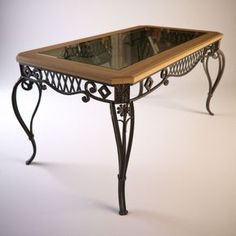 Decorative iron table base - nice design                                                                                                                                                                                 More