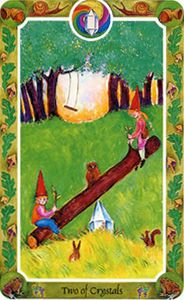 Two of Crystals | Inner Child Cards by Isha Lerner: Click to learn more