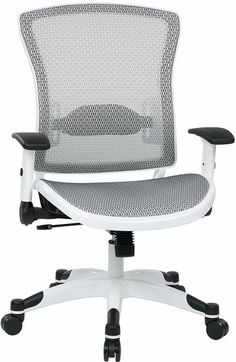 317w 31c1f2w space task chair white coated base white breathable