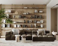 living room Living Room Interior, Home Living Room, Apartment Living, Living Room Decor, Japanese Interior, Contemporary Interior, Country House Design, Interior Architecture, Interior Design