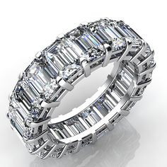 2.5 Carat Emerald Cut Diamond Eternity Band VS2 H Estimate Appraisal Value: $6,916.68 MSRP: $3,881.03 Sale Price: $2,910.77