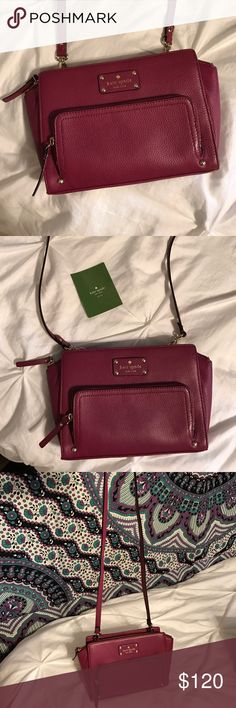 Kate Spade Crossbody Bag I bought this Kate Spade crossbody and only wore it out once! It's the perfect size- not too big but not too small! kate spade Bags Crossbody Bags