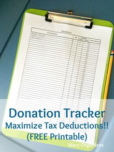 How To Setup A Donation Station (Easy Tax Write-offs with a FREE Printable!)  This would really help get rid of clutter!