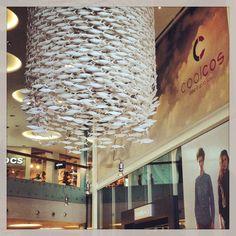 #shoal by #scabetti at #Fisketorvet Copenhagen Mall, Denmark. Featuring 25cm long #fish.