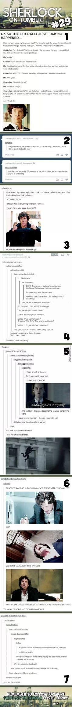 The Sherlock fandom fakes its death xD
