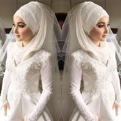 These are some stunning hijab styles and wraps you can try on your wedding day…