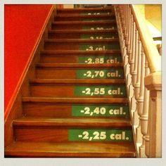 Treppensteigen: die effektivste Fitnessübung, um sich im Alltag fit zu halten. Es verbessert neben der Ausdauer auch das Herz-Kreislaufsystem und trainiert verschiedenste Muskelgruppen.  Ca. 400 Treppenstufen entsprechen einer 15-minütigen Joggingeinheit.