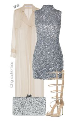 """""""Holiday"""" by highfashionfiles ❤ liked on Polyvore featuring Sally Lapointe, Edie Parker, Harrods and Blue Nile"""
