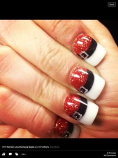 Cute santa nail