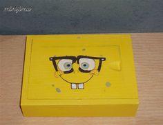 Box of kid cards - Painted SpongeBob Kids Cards, Spongebob, Nintendo Consoles, Boys, Baby Boys, Sponge Bob, Senior Boys, Sons, Guys