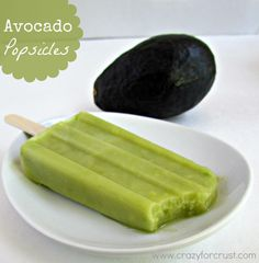 Crazy for Crust: Avocado Popsicles - So Intrigued must try