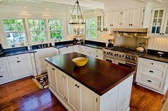 cost of beauty. $62,000 kitchen reno. Wood, Hardwood, Island, Farmhouse, Wainscotting, Traditional, Soapstone, Flat Panel, L-Shaped, Chandelier