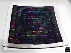 fused glass plate