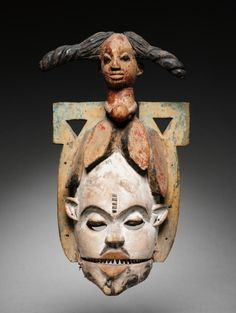 Mask | Mask, c. 1920s      Guinea Coast, Nigeria, Ibibio, 20th century      wood and pigment, Overall - h:49.50 cm (h:19 7/16 inches).