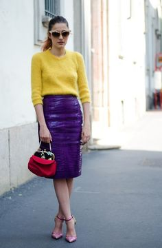 See the Eleonora Carisi's colorful outfit soon on www.musestyle.com #musestyle