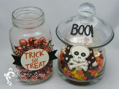 décorations halloween Stampin'UP! Halloween decorations with Stampin'UP! Candies bar. Bar à bonbons.