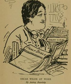 Oscar Wilde at Work - Aubrey Beardsley