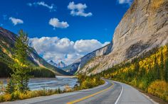 Download wallpapers Bow River, 4k, canadian landmarks, autumn, Banff National Park, Canadian Rockies, Canada