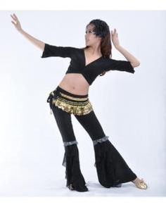 Danzcue Womens Dynamic 2-Piece Belly Dance Costume Belt not included