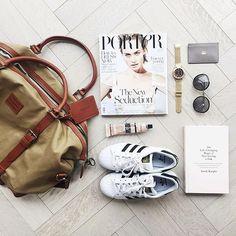 Travel essentials including Chestnut Hvalen by @annelibush.