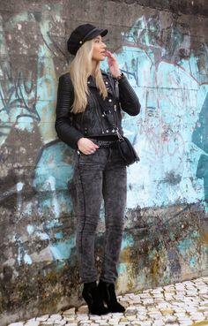 lStyle Statement : LOOK DO DIA: LEATHER BIKER JACKET from Mango  #ootd #lookdodia #lookoftheday #outfitoftheday #outfitpost #newpost #bikerjacket #leatherjacket #lookdeldía #bakercap #fashionblog #blogdemoda #portugal #personalstylist #consultoriadeimagem #style #stylestatement #streetstyle