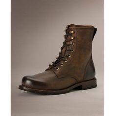 a996c50fdee Men brown combat boot men lace up military boots handmade leather boot  Botines De Caña Corta
