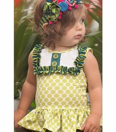 Persnickety Charming Baby Top Lou Lou Peplum PREORDER