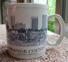 Starbucks 2008 Orange County The Big Orange City Coffee Cup Mug 18 oz Mint #Starbucks