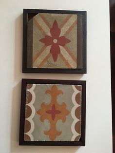 Hydraulic/cement rescued tile frames from Barcelona Cement, Coasters, Tiles, Barcelona, The Past, Frames, Objects, Pretty, Mesas