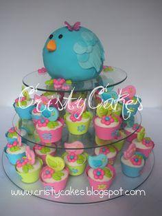 Cristy's Cakes: Pajaritos para el Baby Shower de Ma. Auxiliadora y Miranda