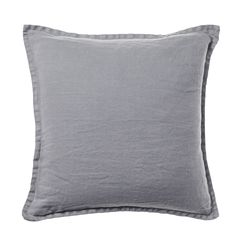Home Republic - Belgian Vintage Washed Linen Cushion Seal Grey - Homewares Cushions - Adairs Online Queen Bedding Sets, Luxury Bedding Sets, Comforter Sets, Black Bedding, Linen Bedding, Bed Linens, Zara Home, Master Suite, Pottery Barn