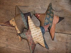 Bowl fillers or ornies are great because you can change them often and they work in everyroom.  This one is  Scrappy Primitive Star Bowl Fillers/Ornies Rustic Country Farmhouse Primitive Decor  made by  http://www.etsy.com/shop/TreasuredPrimitives