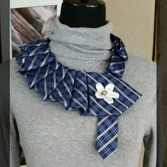 Eco friendly statement pieces really add unique style to any wardrobe. Upcycled neck ties aren't just for men.