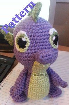 Spike the Dragon Crochet Amigurumi Dragon Pattern by WuMeDesign, $4.00