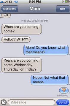 22 Razões porque é que os pais não deviam enviar SMS ~ curiosityFlux
