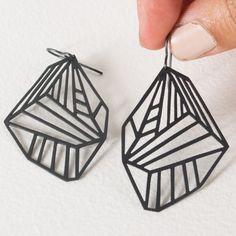 Cool oxidized metal earrings.