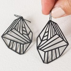 Cool oxidized metal earrings.
